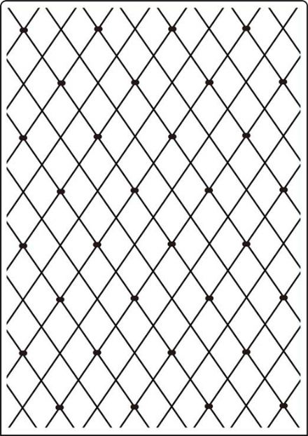 CTA405 ~ LATTICE  ~ A4 embossing folder by Crafts Too